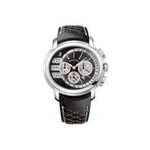 Audemars Piguet Millenary Chronograph Stal 47mm Czarny Bez cyfr