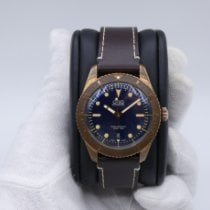 Oris Carl Brashear pre-owned 42mm Blue Leather