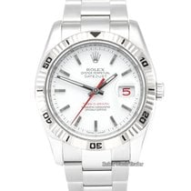 Rolex Datejust Turn-O-Graph Acero 36mm Blanco Sin cifras