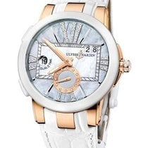 Ulysse Nardin Executive Dual Time Lady pre-owned Mother of pearl Leather