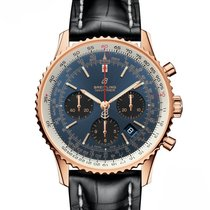 Breitling Red gold Automatic Blue No numerals 43mm new Navitimer 1 B01 Chronograph 43