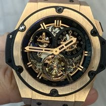 Hublot King Power Ruzicasto zlato Proziran