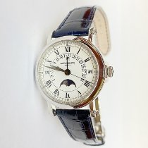 Patek Philippe White gold Automatic White Roman numerals 36mm pre-owned Perpetual Calendar