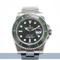 Rolex Submariner Date Çelik 40mm Yeşil Rakamsız