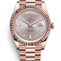 Rolex Day-Date 40 Rose gold 40mm Brown Roman numerals United States of America, New York, New York