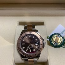 Rolex Yacht-Master 37 Gold/Steel 37mm Brown No numerals