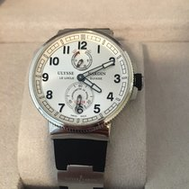 Ulysse Nardin Marine Chronometer Manufacture occasion 43mm Argent Cuir de crocodile