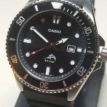 Casio Steel Quartz Black 44mm new