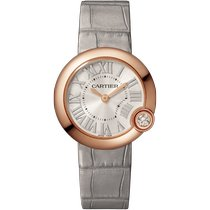Cartier Ballon Blanc Rose gold 30mm Silver Roman numerals