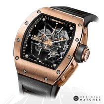 Richard Mille Rose gold Manual winding Transparent No numerals 49mm RM 035