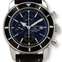 Breitling Superocean Héritage Chronograph pre-owned 46mm Black Chronograph Date Leather