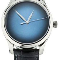 H.Moser & Cie. Endeavour Oro blanco 42mm Azul
