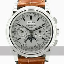 Patek Philippe Perpetual Calendar Chronograph White gold 40mm Silver