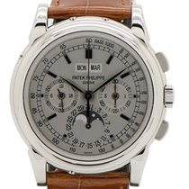 Patek Philippe 5970G-001 White gold 2010 Perpetual Calendar Chronograph 40mm pre-owned