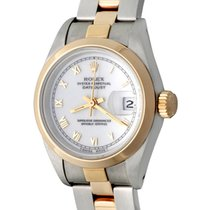 Rolex Oyster Perpetual Lady Date Acero 25mm Blanco Romanos