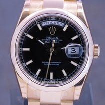 Rolex Day-Date 36 Yellow gold 36mm Black United Kingdom, London, Paris & Brussels face to face delivery only - Other destination shipping with Brinks and DHL Express