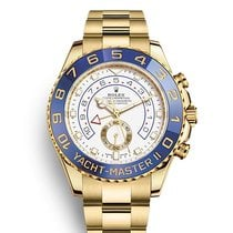 Rolex Yacht-Master II Yellow gold 44mm White No numerals