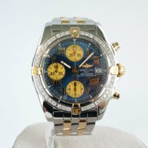 Breitling Chrono Cockpit Gold/Steel 39mm Blue No numerals