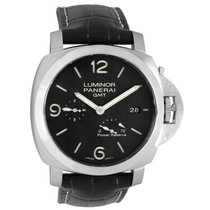 Panerai Luminor 1950 3 Days GMT Power Reserve Automatic pre-owned 44mm Black Date Year GMT Buckle