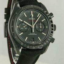 Omega Speedmaster Professional Moonwatch gebraucht 43mm Schwarz Chronograph Datum Leder