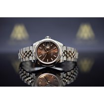 Rolex Lady-Datejust pre-owned 28mm Brown Date Steel