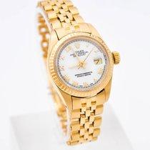 Rolex Lady-Datejust Yellow gold White Roman numerals