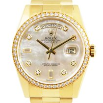 Rolex Day-Date 36 Yellow gold 36mm Mother of pearl No numerals United Kingdom, London