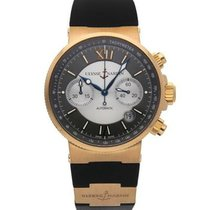 Ulysse Nardin Marine Chronograph 356-66 Very good Yellow gold 41mm Automatic