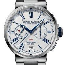 Ulysse Nardin Marine Chronograph Steel White