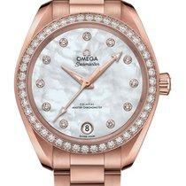 Omega 220.55.34.20.55.001 Or rose 2020 Seamaster Aqua Terra 34mm nouveau