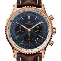 Breitling Roségoud Automatisch Blauw 43mm nieuw Navitimer 1 B01 Chronograph 43