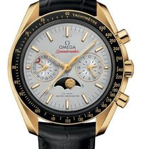 Omega Oro amarillo Automático Plata 44mm nuevo Speedmaster Professional Moonwatch Moonphase
