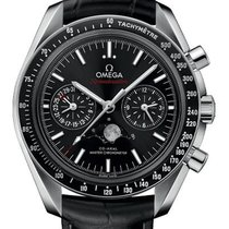 Omega Speedmaster Professional Moonwatch Moonphase Сталь 44mm Черный