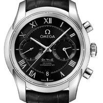 Omega De Ville Co-Axial Acero 42mm Negro