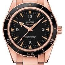 Omega Rose gold Automatic Black 41mm new Seamaster 300