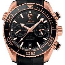 Omega Or rose Remontage automatique Noir 46mm nouveau Seamaster Planet Ocean Chronograph