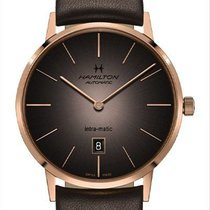 Hamilton Intra-Matic Steel 42mm Brown
