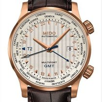 Mido Multifort GMT Srebrny
