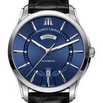 Maurice Lacroix Pontos Day Date Steel 41mm Blue