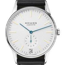 NOMOS Orion Datum neu 2020 Handaufzug Uhr mit Original-Box und Original-Papieren 380
