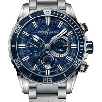 Ulysse Nardin Diver Chronograph Steel 44mm Blue