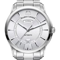 Maurice Lacroix Pontos Day Date Steel 41mm Silver