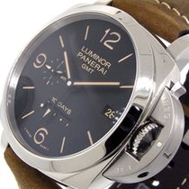 沛納海 Luminor 1950 10 Days GMT 鋼 44mm 黑色