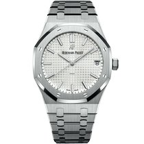 Audemars Piguet Royal Oak Selfwinding Acero 41mm Blanco Sin cifras
