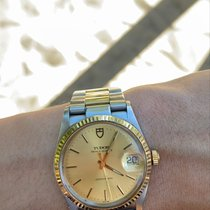 Tudor Prince Date Gold/Steel 34mm Gold No numerals