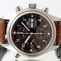 IWC Pilot Double Chronograph Acél 42mm Fekete Arab