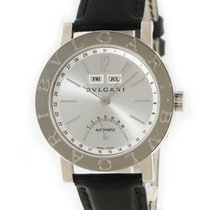 Bulgari White gold Automatic Silver pre-owned Bulgari