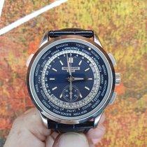 Patek Philippe World Time Chronograph Weißgold 39.5mm Blau