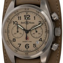 Bell & Ross Vintage pre-owned 43mm Chronograph Date Leather