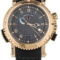 Breguet Rose gold Automatic Brown 45mm pre-owned Marine